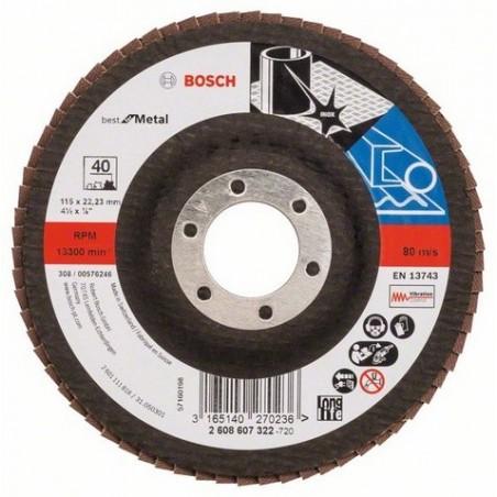 Bosch lamellenschuurschijf Best for Metal recht 115mm k40 (10)