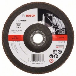 Bosch lamellenschuurschijf Best for Metal recht 180mm k120 (10)