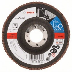 Bosch lamellenschuurschijf Best for Metal Haaks 115mm, k40 (10)